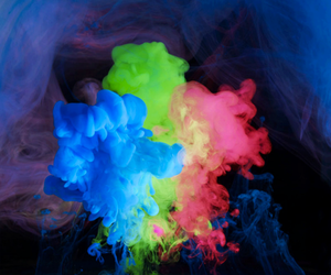 blue, smoke, and colors image
