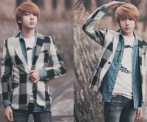 blonde, boy, and korean image