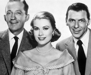 frank sinatra, bing crosby, and grace kelly image