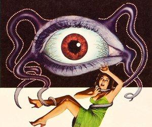 eye, tentacles, and eyeball image