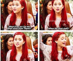 ariana grande, victorious, and cat image