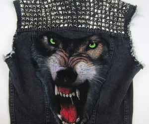 wolf, jacket, and vest image