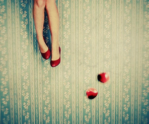 apple, red, and legs image