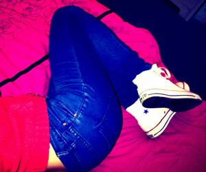 blue, jeans, and red image