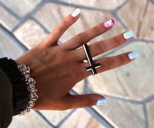 girl, ring, and blue image