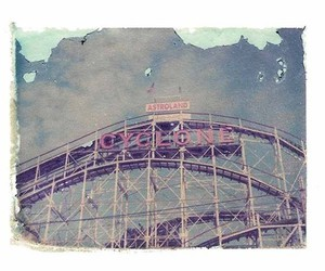 coney island, cyclone, and rollercoaster image