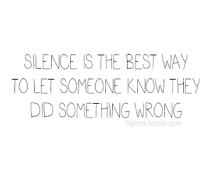 quote, silence, and text image
