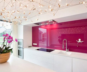 kitchen, pink, and house image