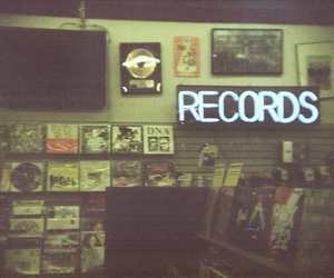 record, vintage, and music image