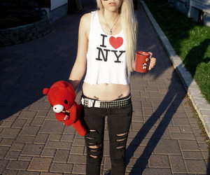 girl, blonde, and ny image