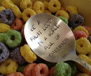 cheerios, food, and spoon image