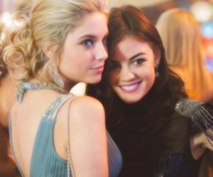pretty little liars, ashley benson, and lucy hale image
