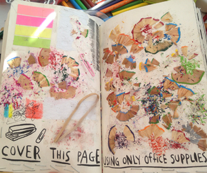 keri smith, page, and wreck this journal image