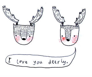 love, deer, and cute image