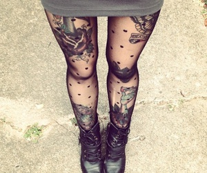 tattoo, legs, and boots image