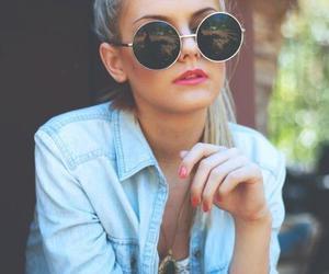 girl, sunglasses, and glasses image