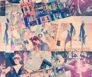vintage, Collage, and background image