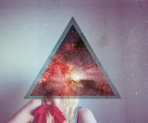 hipster and triangle image