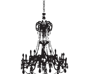 black and white, chandelier, and classy image