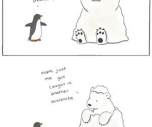 bear, penguin, and adorable image