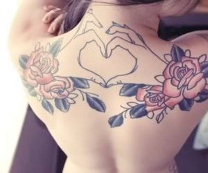 flowers, heart, and naked image