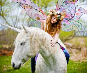 fairy, magic, and unicorn image