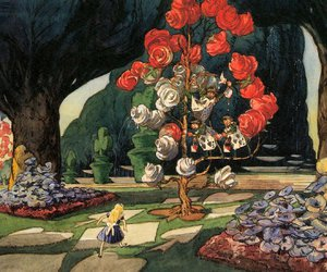 alice in wonderland and rose image