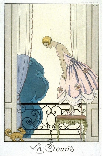 blonde, georges barbier, and fashion illustration image