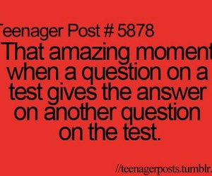 teenager post, test, and quote image