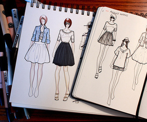 fashion, drawing, and sketch image