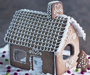 bake, food, and gingerbread house image