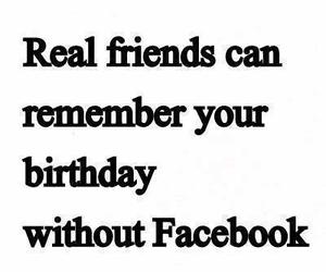 friends, facebook, and birthday image