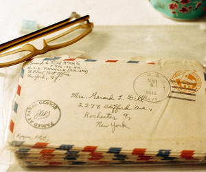 Letter, vintage, and glasses image