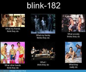 blink 182, mark hoppus, and tom delonge image