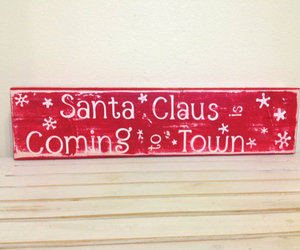 christmas, santa claus, and sign image