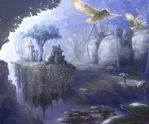 art, floating, and Island image