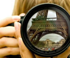 camera, eiffel tower, and photography image