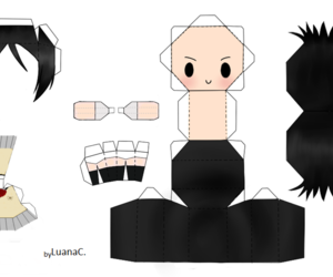 papercraft, rukia, and luana carla image