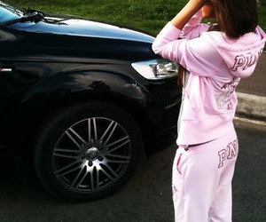 pink, girl, and car image