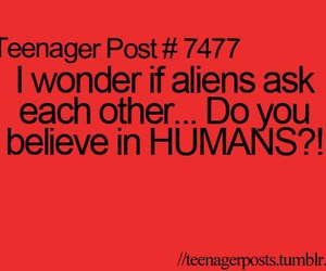 alien and text image
