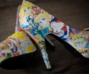 sailor moon, shoes, and heels image