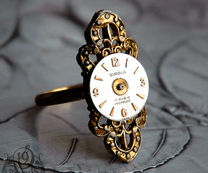 ring, vintage, and clock image