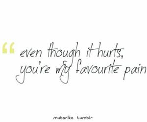 hurt, pain, and quote image