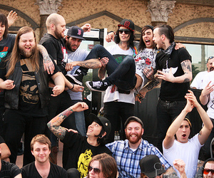 bring me the horizon, pierce the veil, and vic fuentes image