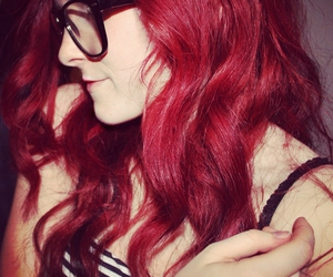 curly hair, girl, and hipster image