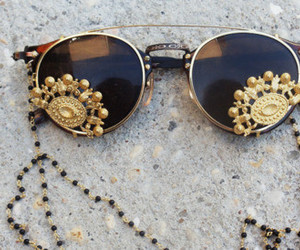 sunglasses, glasses, and gold image