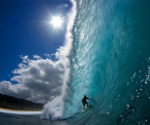 sky, sun, and surf image