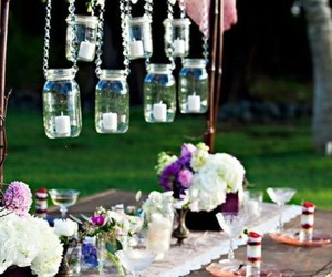 flowers, wedding, and decor image