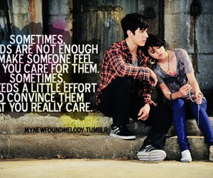 care, couple, and quote image