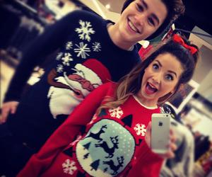 christmas, couple, and zoella image